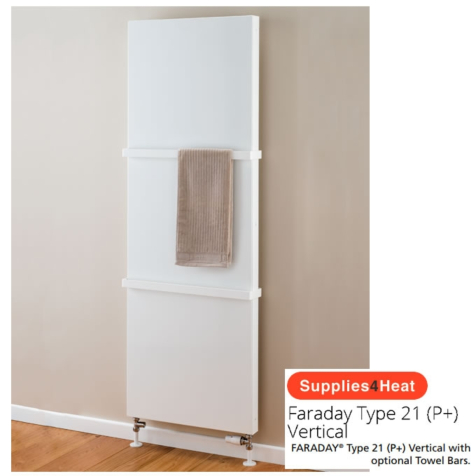 Supplies4Heat Faraday Type 21 Vertical White Radiators