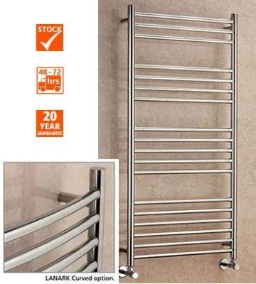 Supplies4Heat Lanark Curved Stainless Steel Towel Rails