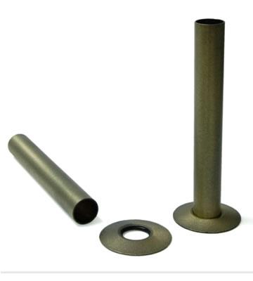 Radiator Pipe Sleeve Kit - Old English Brass