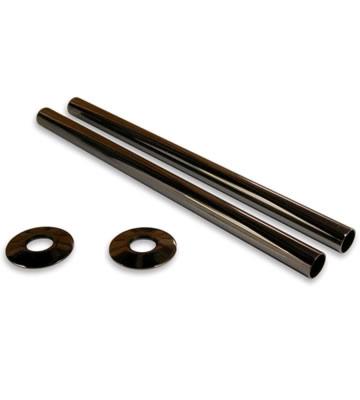 Radiator Pipe Sleeve Kit - Black Nickel