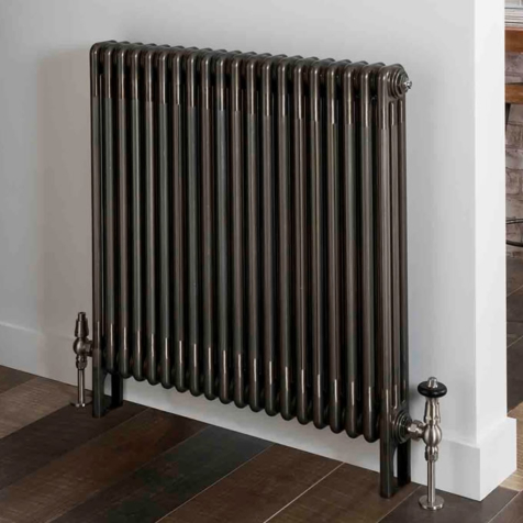The Radiator Company Ancona Bare Metal Lacquer Stock 2 Column Radiator