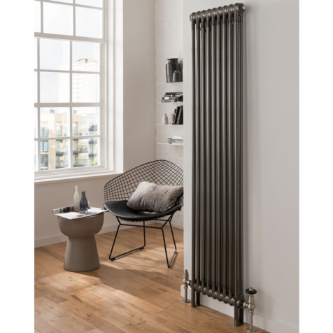 Column Radiators 2 Column 1800mm High Radiators in Bare Metal Lacquer
