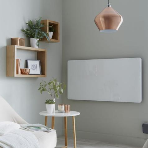 Inspired Vetro Horizontal Electric Frame Glass Radiator