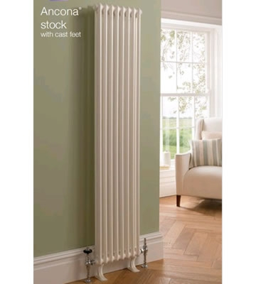 TRC Ancona 3 Column 1800mm High Radiators - Stock in White