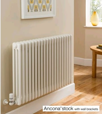 TRC Ancona 3 Column 600mm High Radiators - Stock in White