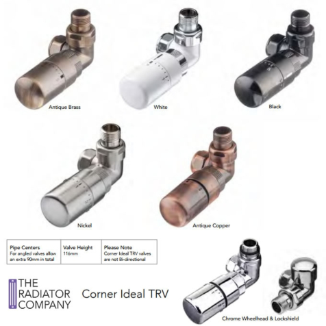 TRC Corner Ideal TRV with Lock Shield in Special Finishes