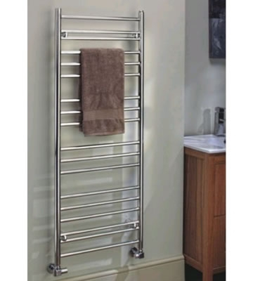 The Radiator Company Iris Vertical Stainless Steel Towel Rails