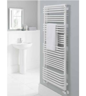 The Radiator Company Poll White Towel Rail