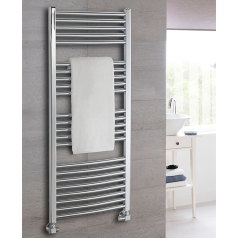 The Radiator Company Poppy Chrome Towel Rails
