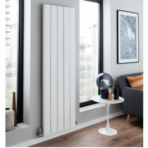 Slimline Aluminium Vertical Radiators in White Finish