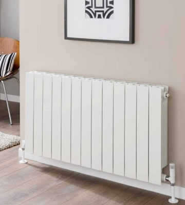 Inspired Flat Top 590mm High Aluminium Radiators in White Finish