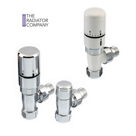 TRC Ideal TRV with Lock Shield in White or Chrome Finish