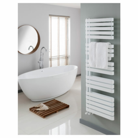 The Radiator Company Griffin White Towel Rail