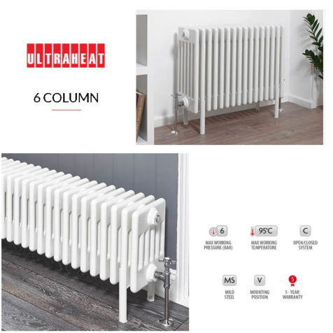 Ultraheat 6 Column 500mm High Radiators