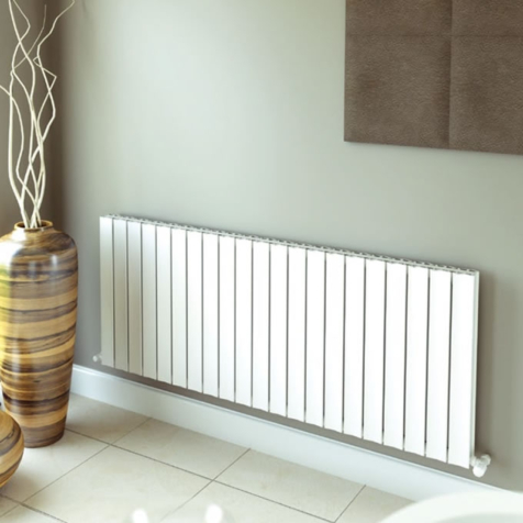Ultraheat Bombe White Horizontal Aluminium Radiators