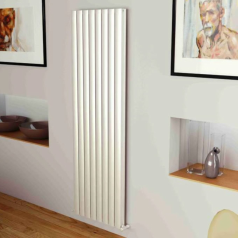 Ultraheat Bombe White Vertical Aluminium Radiators