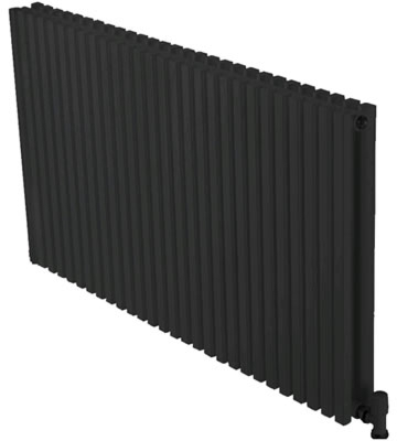 Ultraheat Klon Horizontal Black 420mm High Radiators
