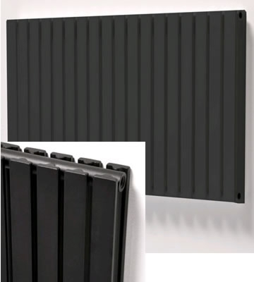 Ultraheat Linear Horizontal Grey Radiators