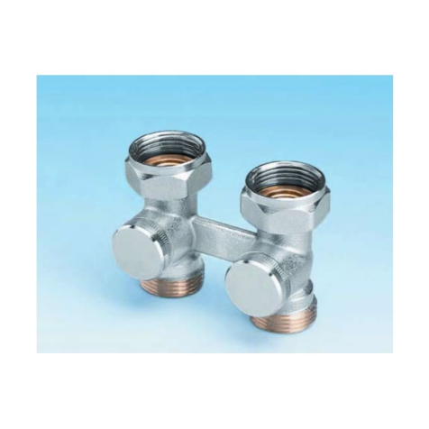Ultraheat Straight H Valve Without Bypass Nickel Plated