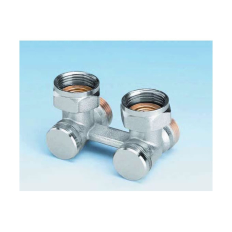 Ultraheat Angle H Valve Without Bypass Nickel Plated