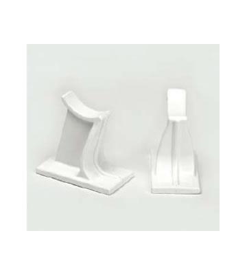 Universal White Column Radiator Feet