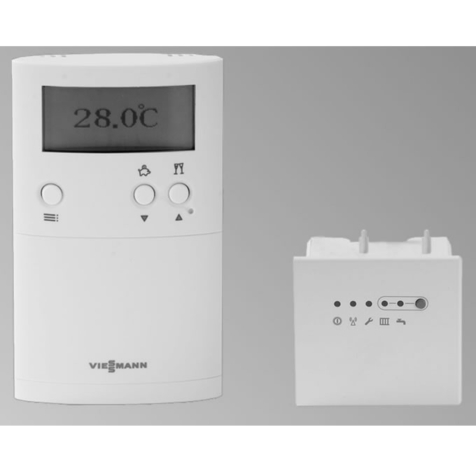 Viessmann Vitotrol 100 RF2 7-Day 2-Ch Programmable Room Thermostat