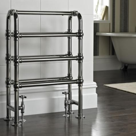 Vogue Arcadia Floor Mounted Traditional Towel Rail