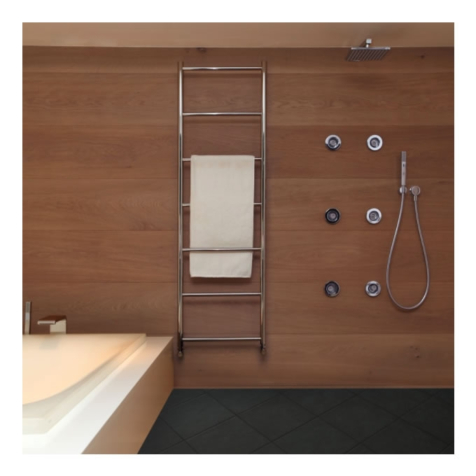 Vogue Galaxy MD059 Polished Stainless Steel Towel Rails