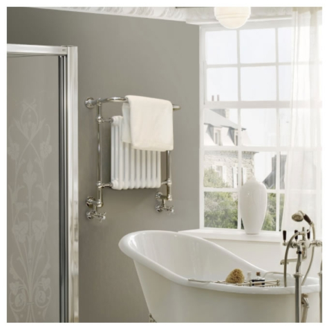 Vogue Regency LG005-BR Chrome Plated Brass Traditional Towel Rail