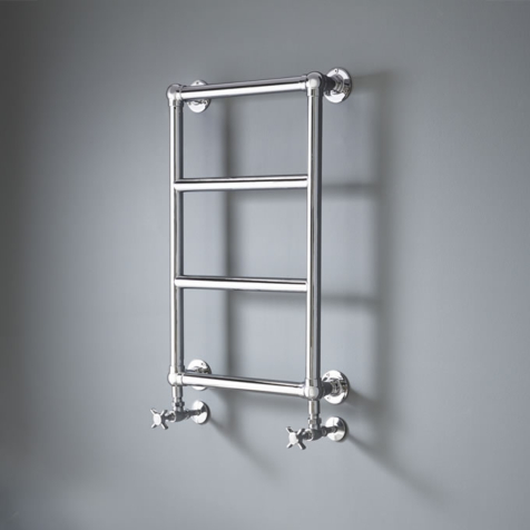 Vogue Vintage LG010B Chrome Plated Brass Wall Mounted Traditional Towel Rail