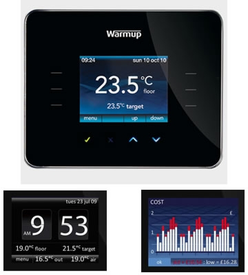 Warmup 3iE Energy-Monitor Programmable Thermostat