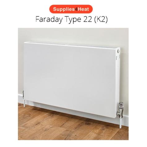 Supplies4Heat Faraday Type 22 500mm High White Radiators