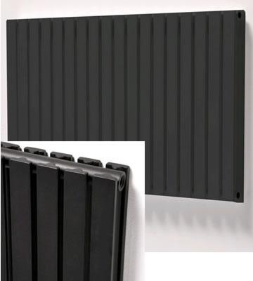 Ultraheat Linear Horizontal Black Radiators