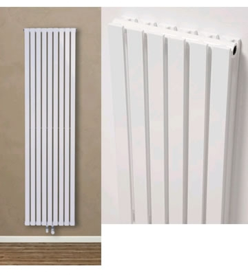 Ultraheat Linear Vertical White Single Radiators
