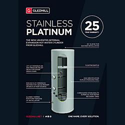 New Gledhill Platinum unvented Cylinders